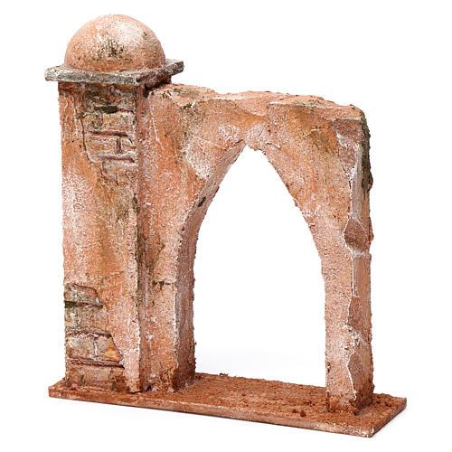 Mur arc en ogive et colonne pour crèche 10 cm 20x15x5 cm style palestinien 2