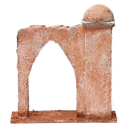 Mur arc en ogive et colonne pour crèche 10 cm 20x15x5 cm style palestinien 4