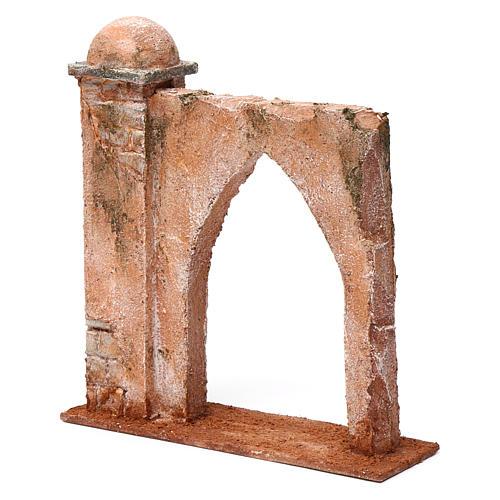 Muro arco ogivale e colonna da un lato per presepe 12 cm 20X20X6 stile palestinese 2