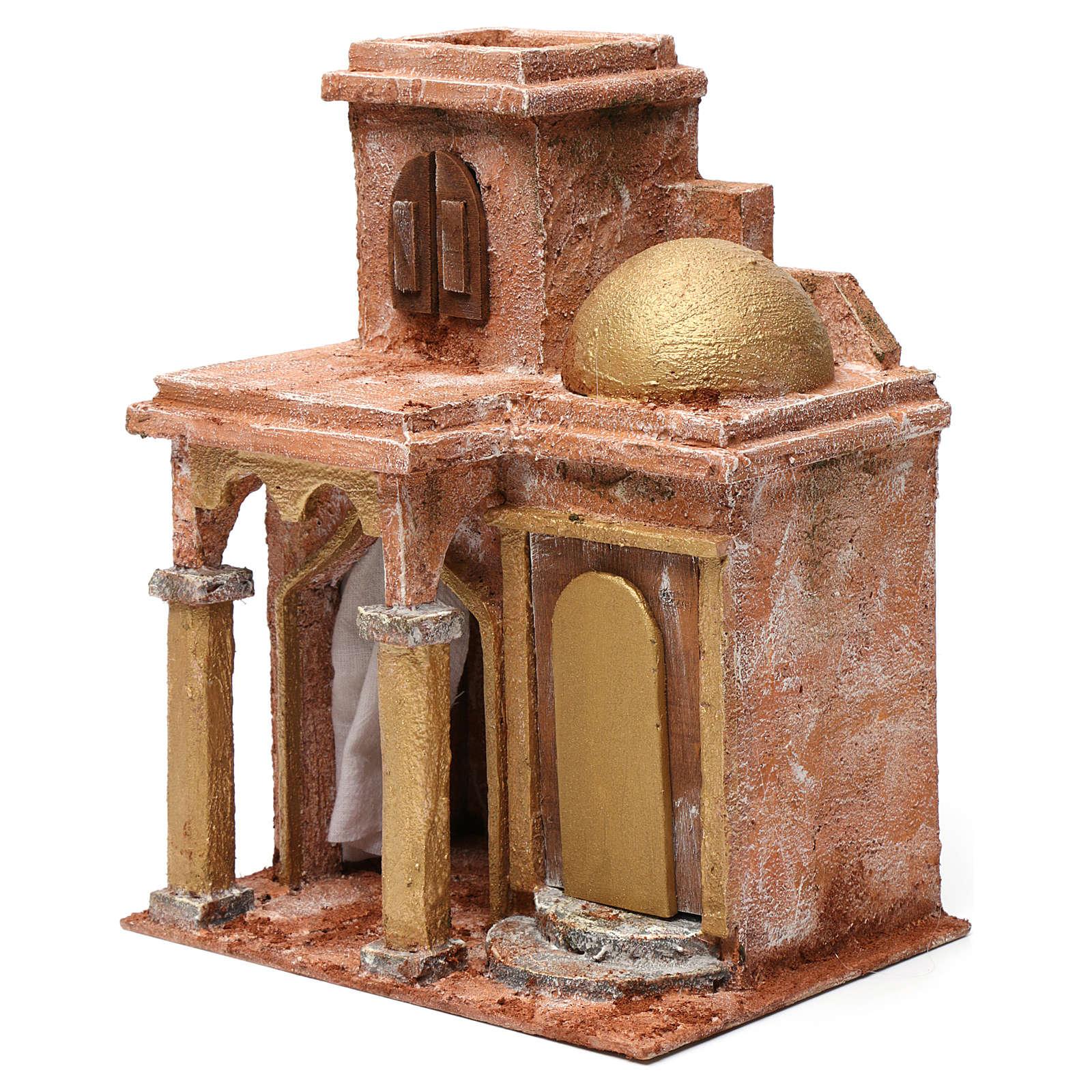 Casa araba con cupola e tenda per presepe 12 cm 30X20X25 cm 4