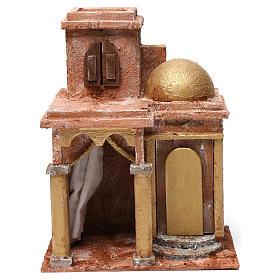 Casa araba con cupola e tenda per presepe 12 cm 30X20X25 cm s1
