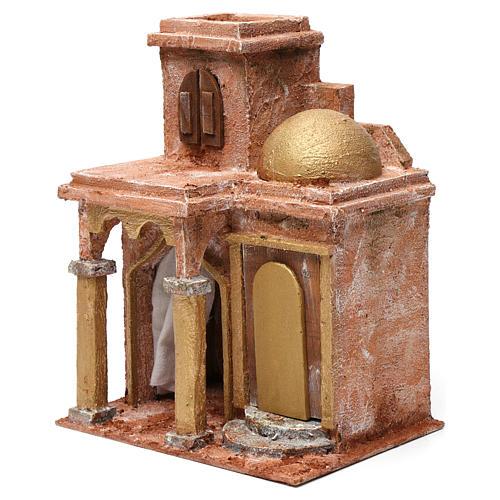 Casa araba con cupola e tenda per presepe 12 cm 30X20X25 cm 2