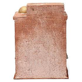 Décor arabe avec petit dôme rideaux sur les côtés et colonnes pour crèche 10 cm 25x15x20 cm s4