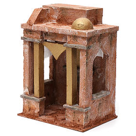 Arab Scene with small Dome side curtains and beams for 10 cm nativity 25x15x20 s2