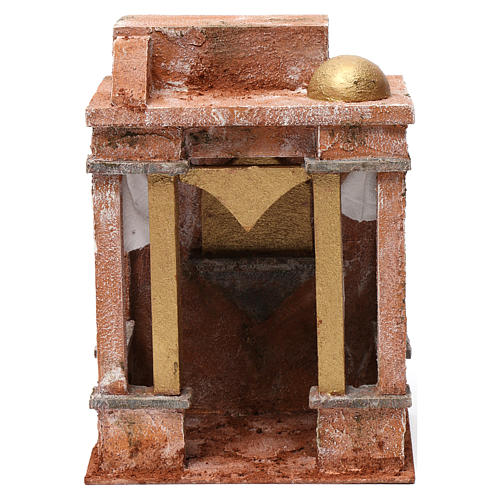 Arab Scene with small Dome side curtains and beams for 10 cm nativity 25x15x20 1