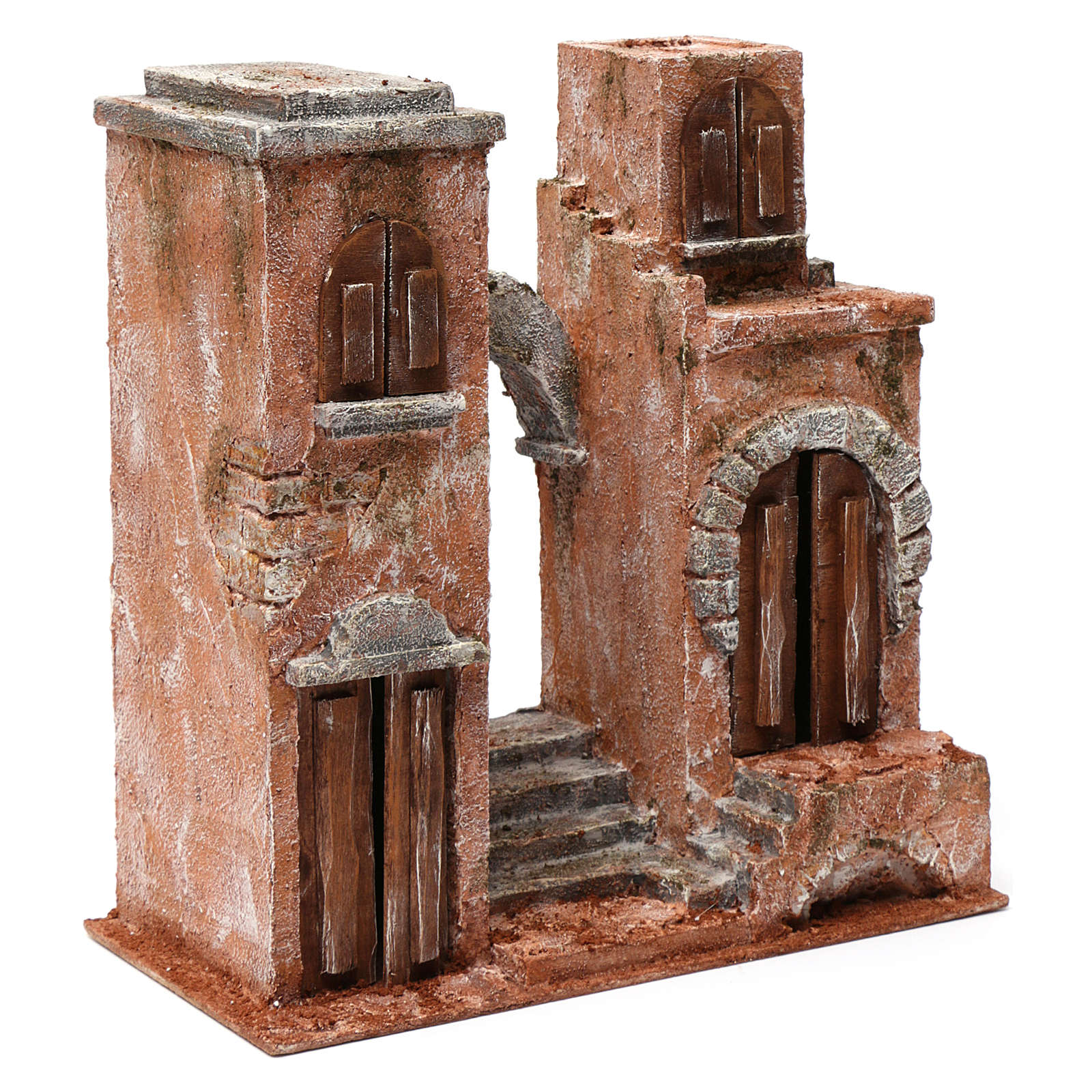 Arab setting with arch and stairs for 10 cm nativity scene 4