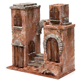Arab setting with arch and stairs for 10 cm nativity scene s2
