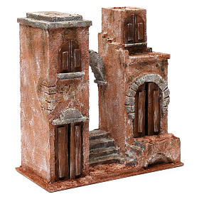 Ambientación árabe con arco y escalera para belén 10 cm de altura media 30x30x15 cm s3
