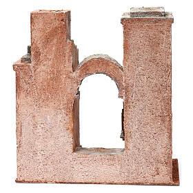 Décor arabe avec arc et escalier pour crèche 10 cm 30x30x15 cm s4