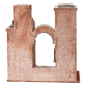 Arab Scenery with arch and steps for 10 cm Nativity 30X30X15 cm s4