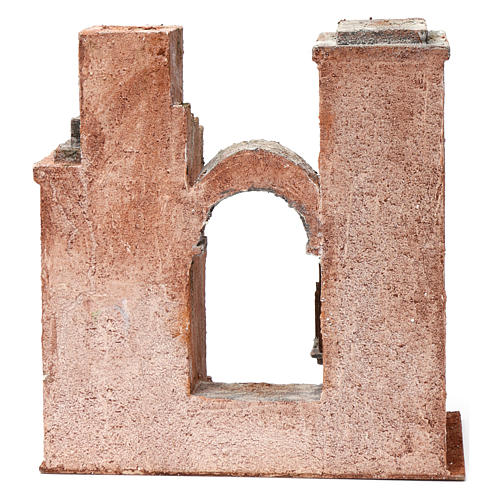 Arab Scenery with arch and steps for 10 cm Nativity 30X30X15 cm 4