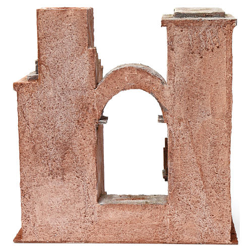 Arab setting with arch and stairs for 12 cm nativity scene 4