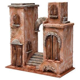 Décor arabe avec arc et escalier pour crèche 12 cm 35x35x20 cm s2