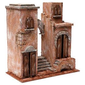 Décor arabe avec arc et escalier pour crèche 12 cm 35x35x20 cm s3