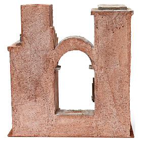 Décor arabe avec arc et escalier pour crèche 12 cm 35x35x20 cm s4
