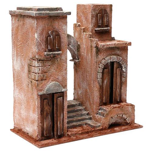 Décor arabe avec arc et escalier pour crèche 12 cm 35x35x20 cm 3