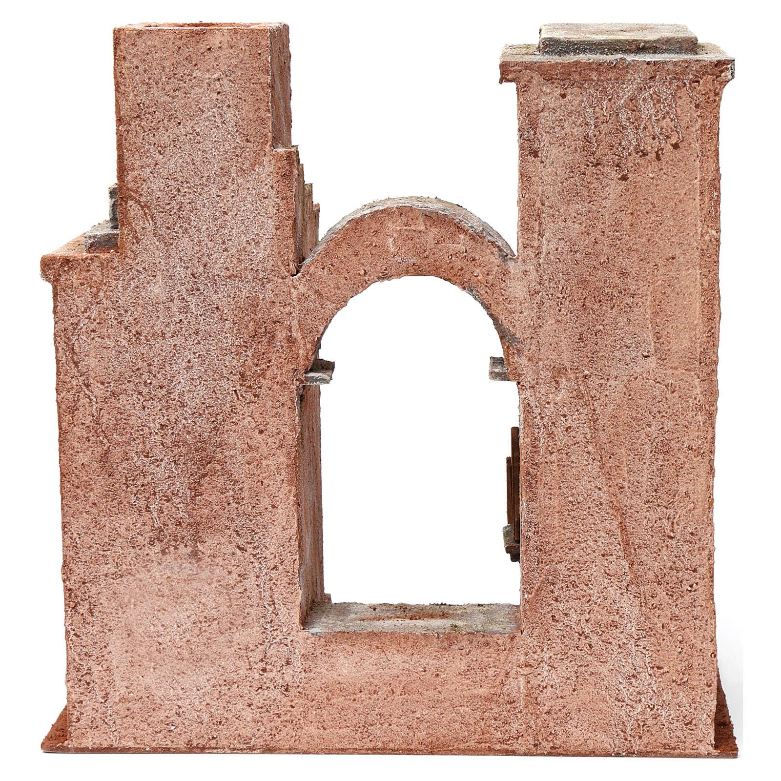 Ambientazione araba arco e scalette per presepe 12 cm 35X35X20 cm 4