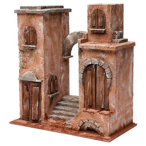 Arab Scenery arch and stairs for 12 cm Nativity 35x35x20 cm 2