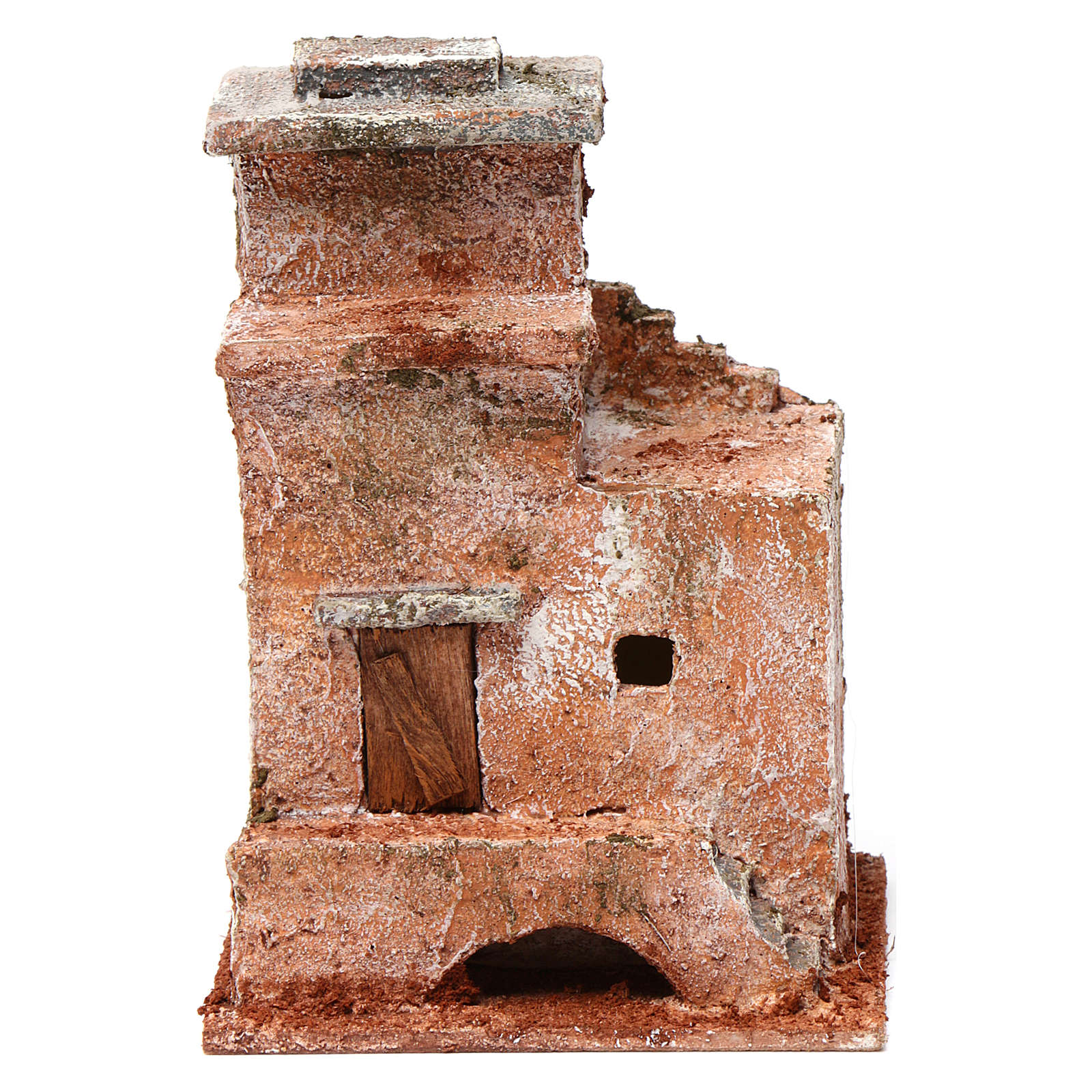 Casa piccola porta legno ponte 15X10X10 stile palestinese cm 4