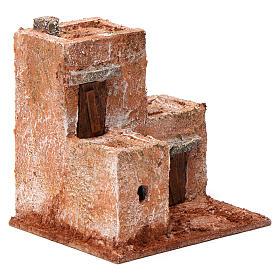 Casa piccola tre porte legno 10X10X10 stile palestinese cm s3