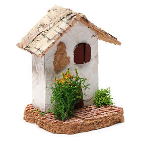 Rustic house 10X7X7 cm for Nativity s3