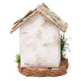 Rustic house 10X7X7 cm for Nativity s4