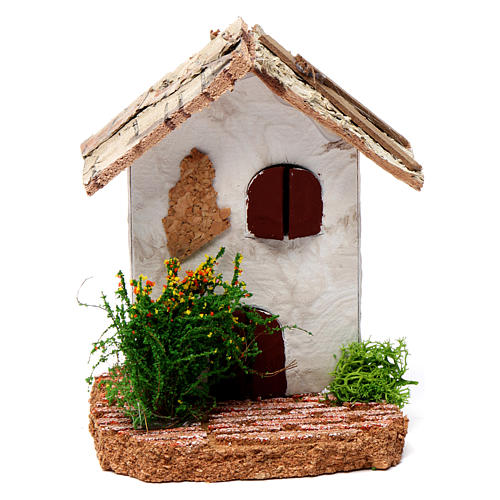Rustic house 10X7X7 cm for Nativity 1