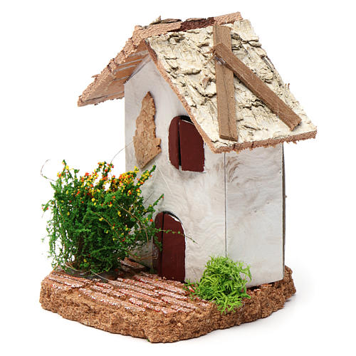 Rustic house 10X7X7 cm for Nativity 2
