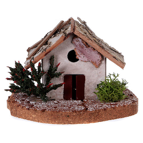 Rustic house 10X7X7 cm for Nativity 5