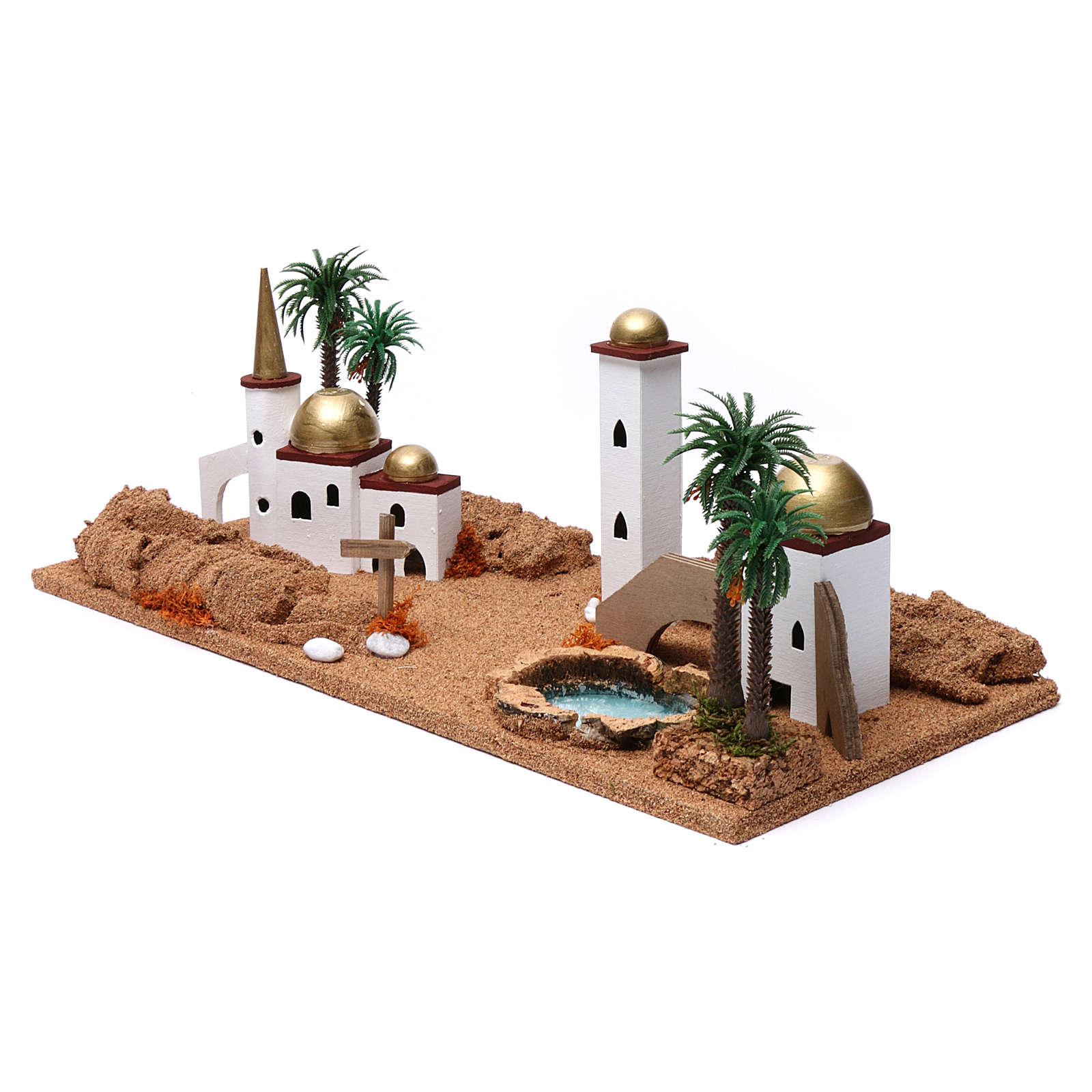 Paesaggio arabo 20X60X30 cm per presepe 4