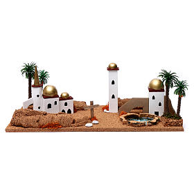 Paesaggio arabo 20X60X30 cm per presepe s1