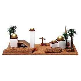 Paesaggio arabo 20X60X30 cm per presepe s4