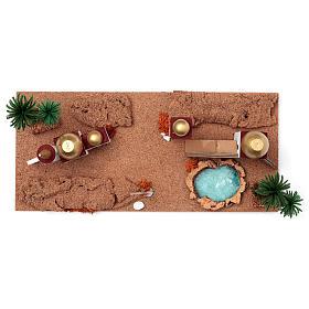 Paesaggio arabo 20X60X30 cm per presepe s5