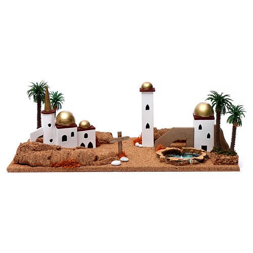 Paesaggio arabo 20X60X30 cm per presepe 1