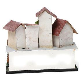 Borgo con piazza, pozzo, albero e porticato 25X25X20 cm per presepe s4