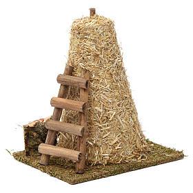 Large haystack, ladder 20x10x15 cm for Nativity Scene 8-10 cm s2