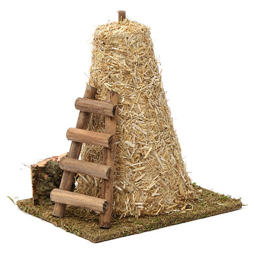 Large haystack, ladder 20x10x15 cm for Nativity Scene 8-10 cm 2