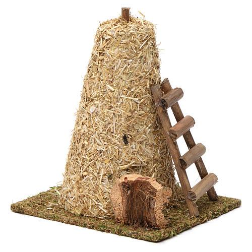 Large haystack, ladder 20x10x15 cm for Nativity Scene 8-10 cm 3