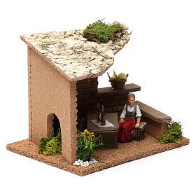 Cellar with farmers 20x20x20 cm for Nativity Scene 9-10 cm s4