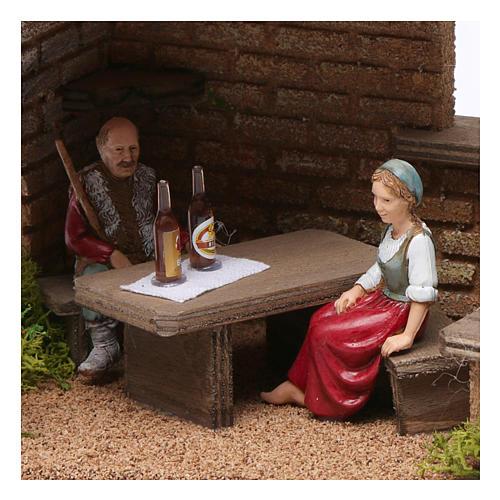 Cellar with farmers 20x20x20 cm for Nativity Scene 9-10 cm 2