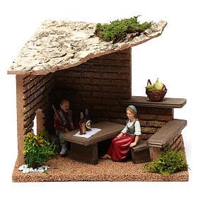 Otoczenie, sklepy, domy, studnie: Piwnica rolnicy 20x20x20 cm do szopki 9-10 cm