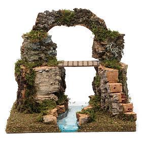 Arco di roccia, ponte sul fiume 20X30X20 cm s1