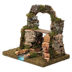 Arco di roccia, ponte sul fiume 20X30X20 cm s2