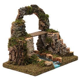 Arco di roccia, ponte sul fiume 20X30X20 cm s3