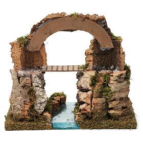 Arco di roccia, ponte sul fiume 20X30X20 cm s4