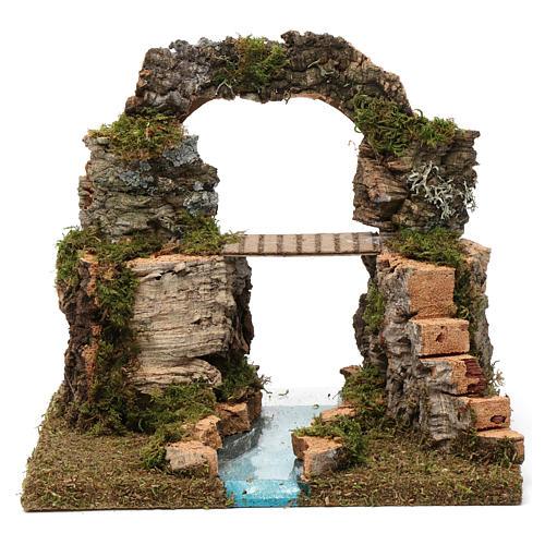 Arco di roccia, ponte sul fiume 20X30X20 cm 1