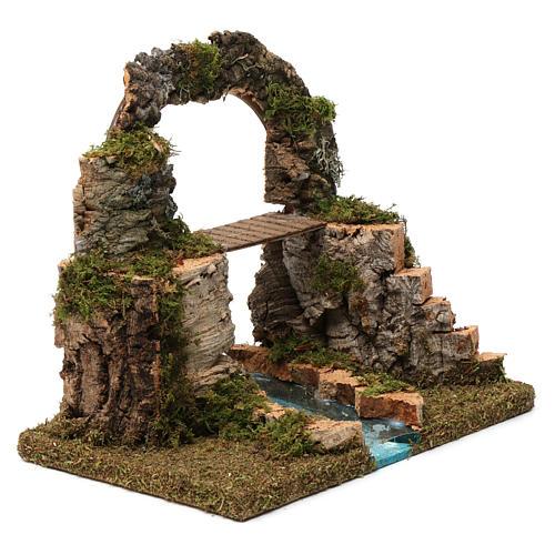 Arco di roccia, ponte sul fiume 20X30X20 cm 3