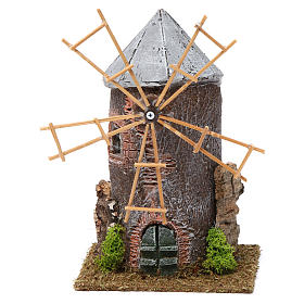 Electrical windmill in resin 20x10x10 cm s1