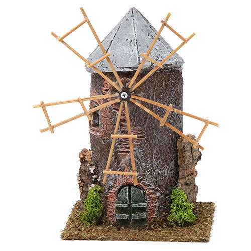 Electrical windmill in resin 20x10x10 cm 1