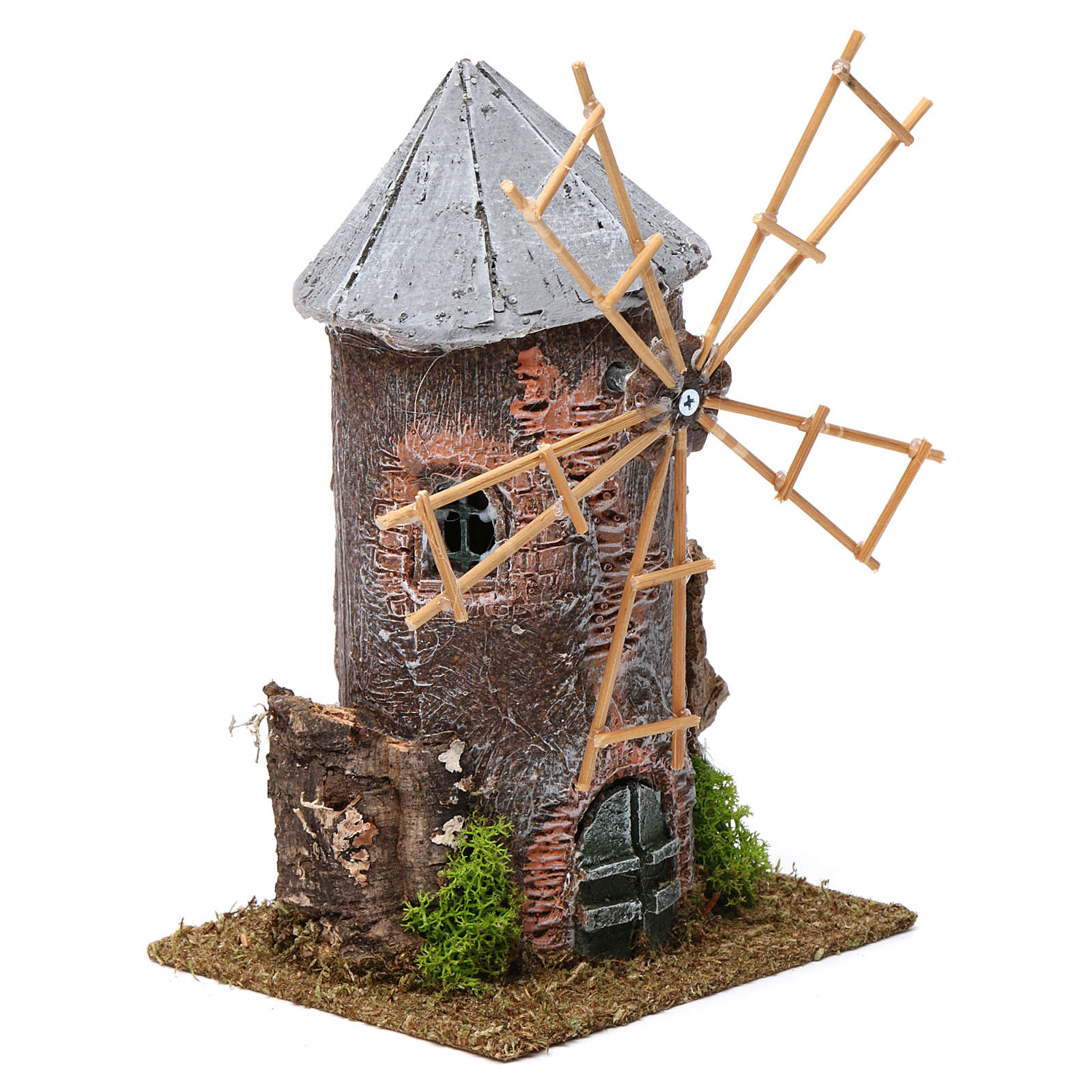 Moinho de vento eléctrico resina 20x10x10 cm 4